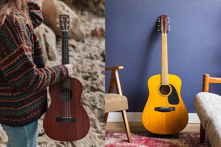 اندازه یوکللی و گیتار